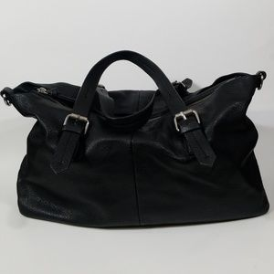 Zara Trafaluc Black Faux Leather Shoulder Bag
